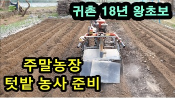 삽질은 이제그만,왕초보의 주말농장 텃밭 농사 준비 (feat. 경운기 로터리)