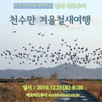 천수만 겨울철새 여행, 12월21일(토)