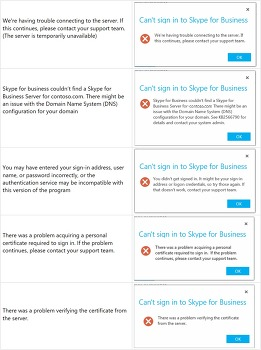 Troubleshooting Skype for Business Client sign in issues