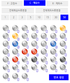 [JS로또랩] 871회차 예상/제외수 번호(lastUpt 0807)