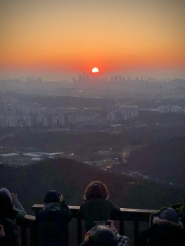 아듀 2019. 마지막 일몰 (소래산)