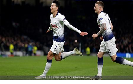 손흥민, 새 구장서 2경기 연속골...챔스 4강 청신호