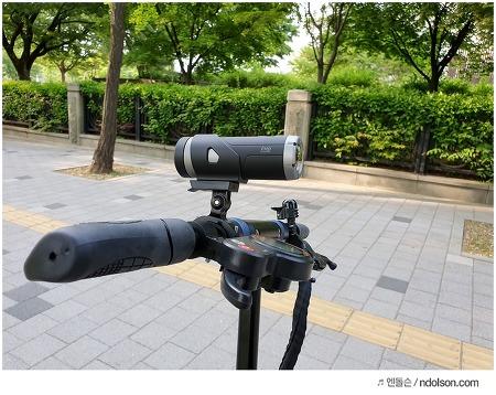 전동킥보드에 자전거 블랙박스 달아요! (아이나비 자전거 블랙박스 TC-1 액션캠)