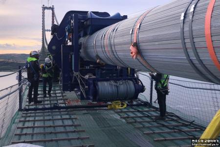 차낙칼레 교량 Main Cable 가설 4 (2021.06)