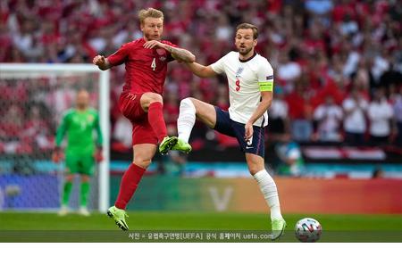 '케인 결승골' 잉글랜드, 덴마크 꺾고 사상 첫 유로 결승