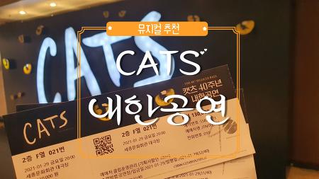 뮤지컬 추천 CATS 내한공연 후기 [JTN 이벤트]