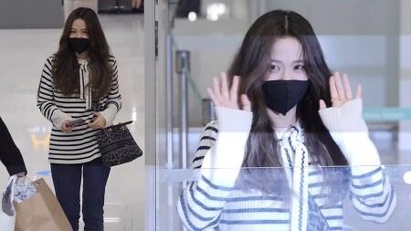 211005 인천공항 입국 블랙핑크 지수 직캠 by 스피넬
