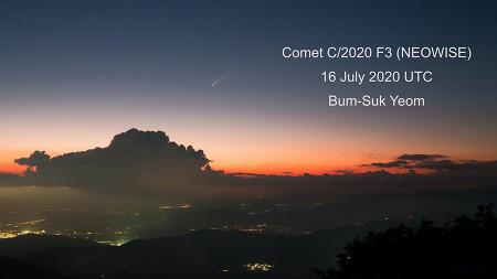 Comet C/2020 F3 (NEOWISE) 4K Timelapse movie