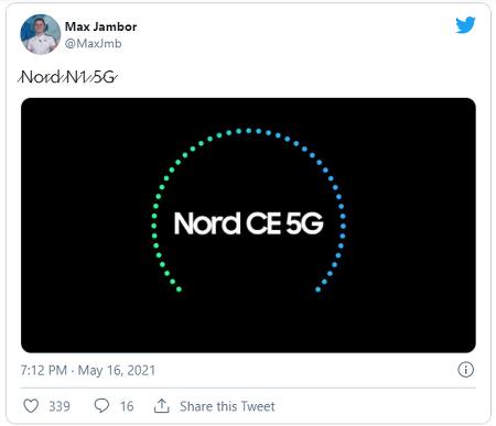 원플러스는 보급형 5G 모델인 원플러스 노드 CE 5G 출시 예정