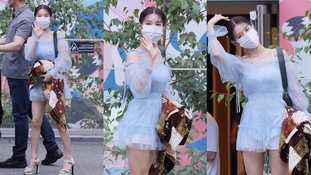 210713 네이버 NOW 소문의 아이들 출근길 여자아이들 미연 직캠 by 스피넬