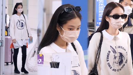 211007 인천공항 입국 블랙핑크 제니 직캠 by 스피넬