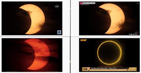 2021 Annular Solar Eclipse Live Stream: Snapshot image