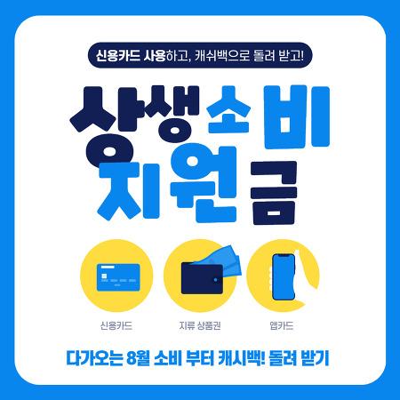 상생소비지원금 외식쿠폰 배달앱 신용카드 캐시백