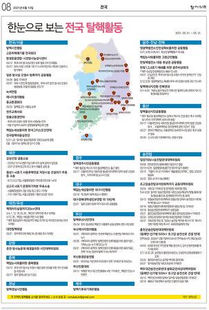 한눈으로 보는 전국 탈핵활동(2021. 5.)