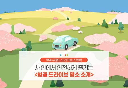 벚꽃 구경도 드라이브 스루로! 차 안에서 안전하게 즐기는 <벚꽃 드라이브 명소 소개>