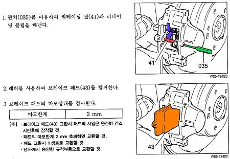 체어맨 CM500 - 브레이크 패드 교체 및 사이드 브레이크 조정