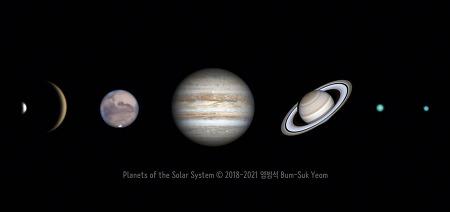 Planets of the Solar System  태양계의 행성들