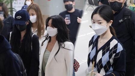 210421 김포공항 트와이스 지효 미나 다현 채영 쯔위 직캠 by 스피넬