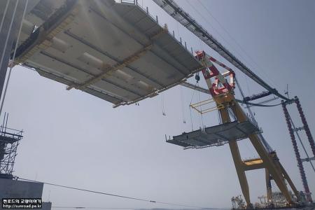 차낙칼레 교량 Deck 시공 3 - F/C Deck 가설 (2021.07~08)
