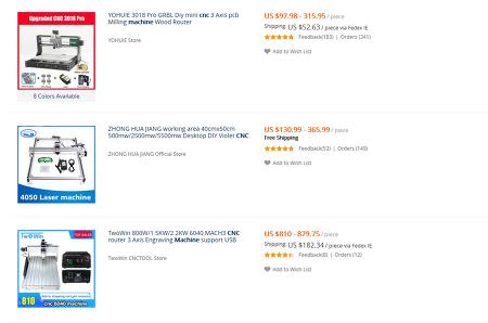 알리익스프레스 기계가 더 비싼 경우도 있다.