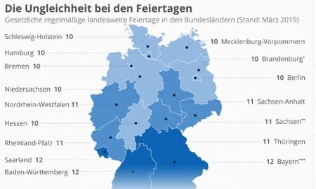 독일의 공휴일,방학은 지역마다 다르다