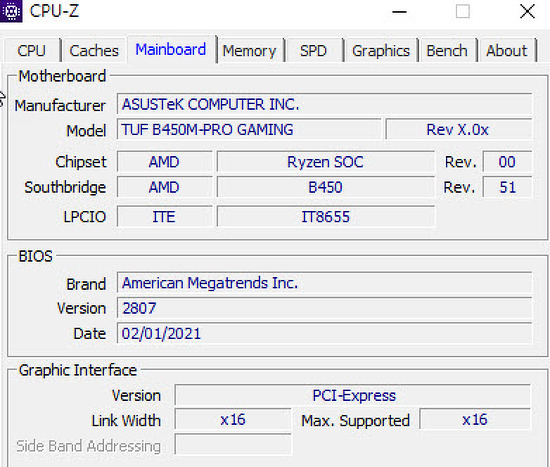 ASUS TUF B450M PRO 바이오스 2807 버전 업데이트 후기