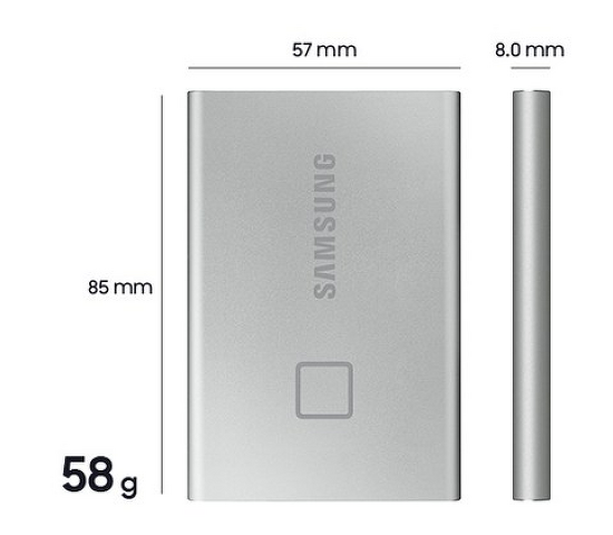 삼성 포터블 SSD T7 . 외장 SSD. 지문인식 보안