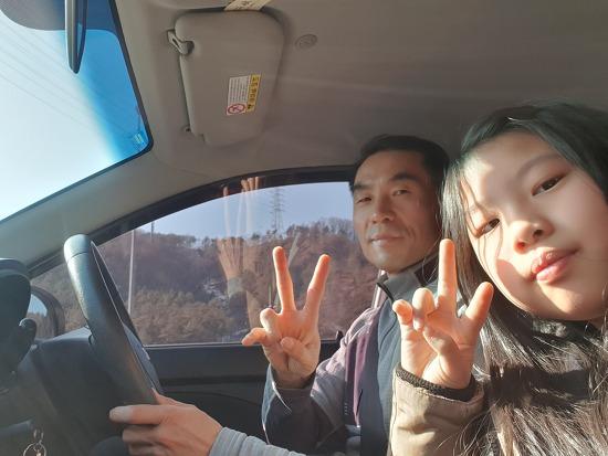 전남 고흥 출장중입니다. 예빛누리장애인주간보호시설에 모닝을 박목사님께 전달해드리러 가고 있습니다.