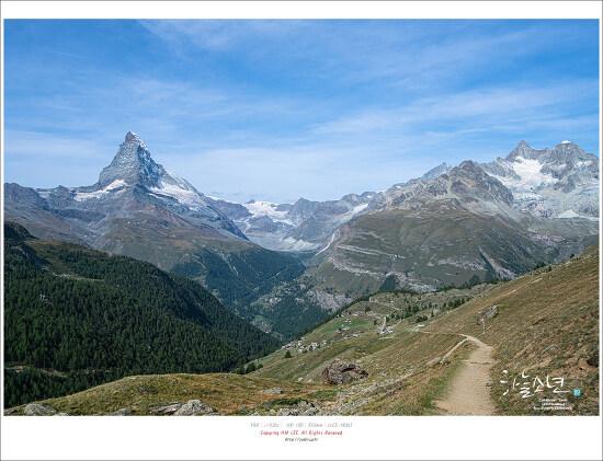 여행 중 만난 지구온난화 (스위스 체르마트에서)