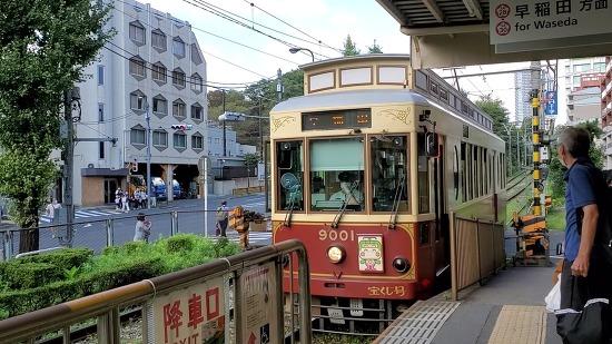 동경 도심을 달리는 미니전철 트램