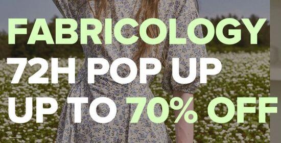 Fabricology 최대 70% 세일