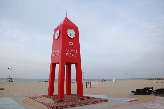 강원도 여행 동해시의 '망상해변' 시계탑의 매력
