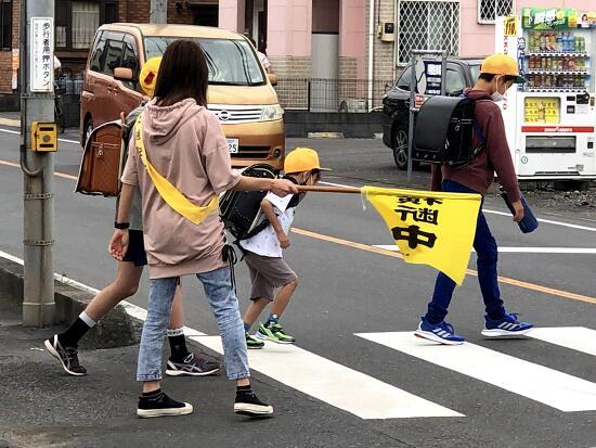 일본의 등하교 도우미 : 旗登板(하타토우반)