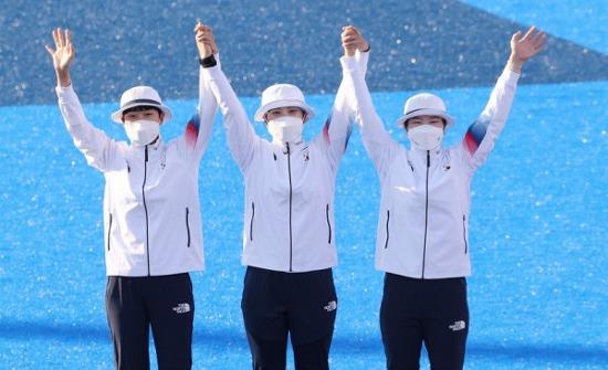 여자 양궁 단체전,'올림픽 9연패' 강채영(현대..