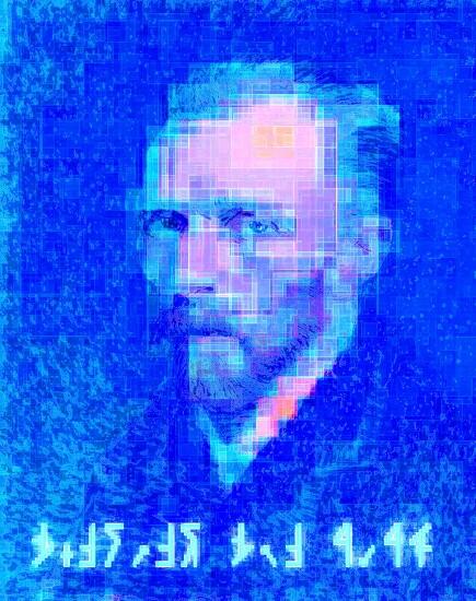 [Digital Art] 빈센트 반 고호 - 자화상 (Vincent Van Gogh - self-portrait)