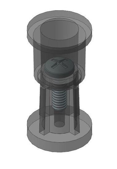 스크류 체결부 기구 구조