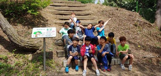 봉양초등학교  학교 뒷동산 이야기 숲길 정비