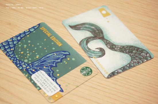스타벅스 2019 애니버서리 사이렌 카드 & 2019 오텀 머그 카드