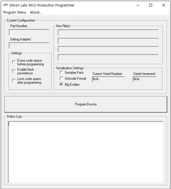 SILabs. MCU Production Programmer . 8bit MCU. EFM8