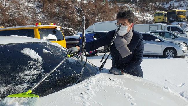 즐거운자동차 중고차 삶의현장을 담아냅니다 #눈오는날 차량관리