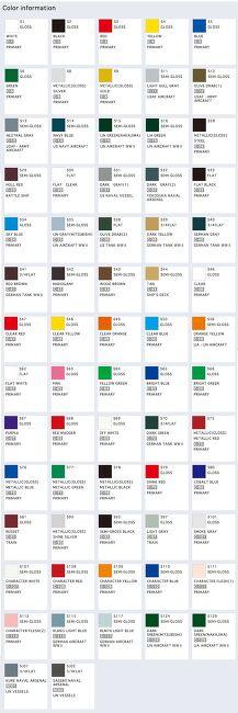군제 스프레이 색상표 ( mr.spray color chart )