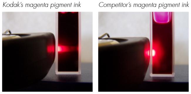 KODAK PROSPER 프레스 피그먼트 잉크젯 잉크의 기술