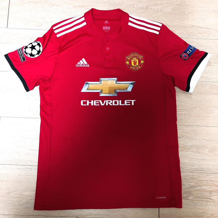 17-18 Manchester United Home Jersey (LUK..