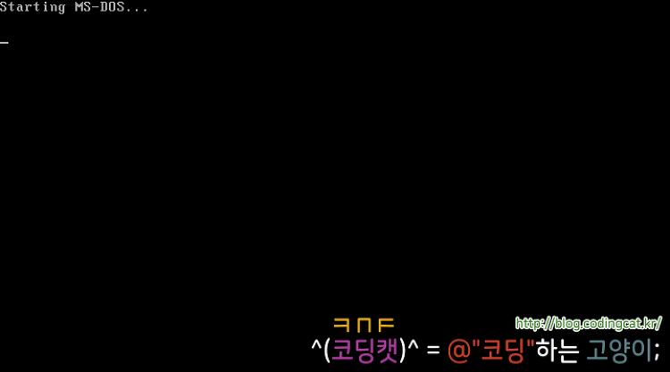 [MS-DOS] MS-DOS 6.2 (한국어 버전)
