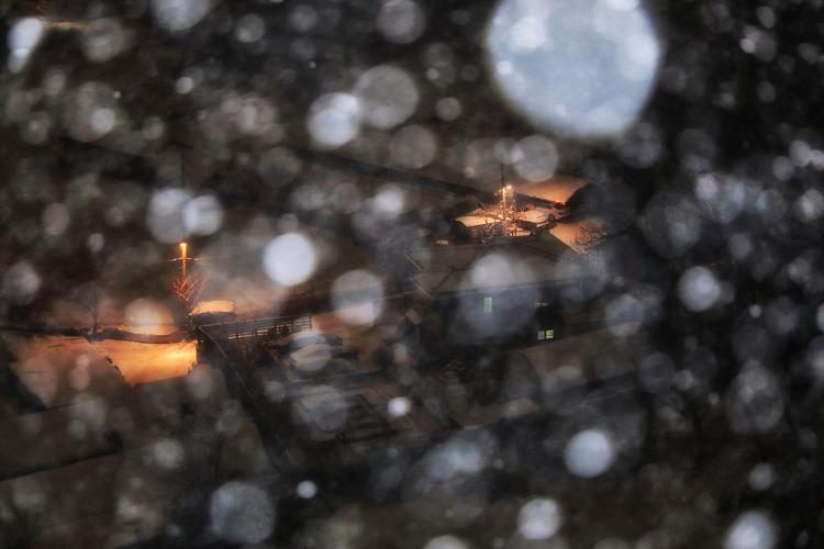 지난 밤, 눈오는 밤, 인천 (2021. 2. 3)