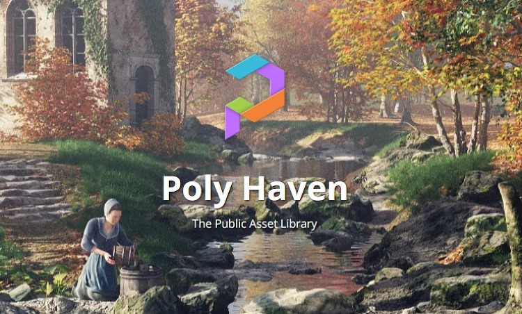 """""""HDRI Haven"""" """"Texture Haven"""" """"3D Model Haven""""가 """"Poly Haven '라는 사이트에 통합"""