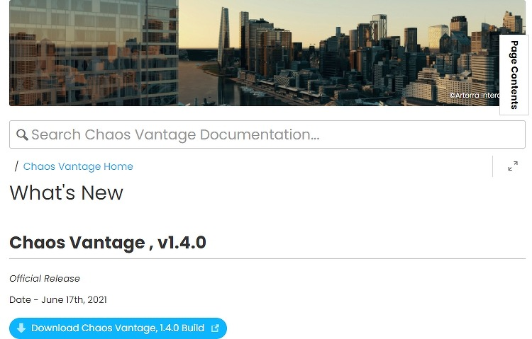 Chaos Vantage 1.4 출시