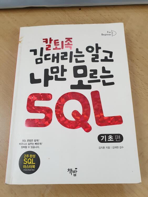 칼퇴족 김대리는 알고 나만 모르는 SQL 책을 읽고...