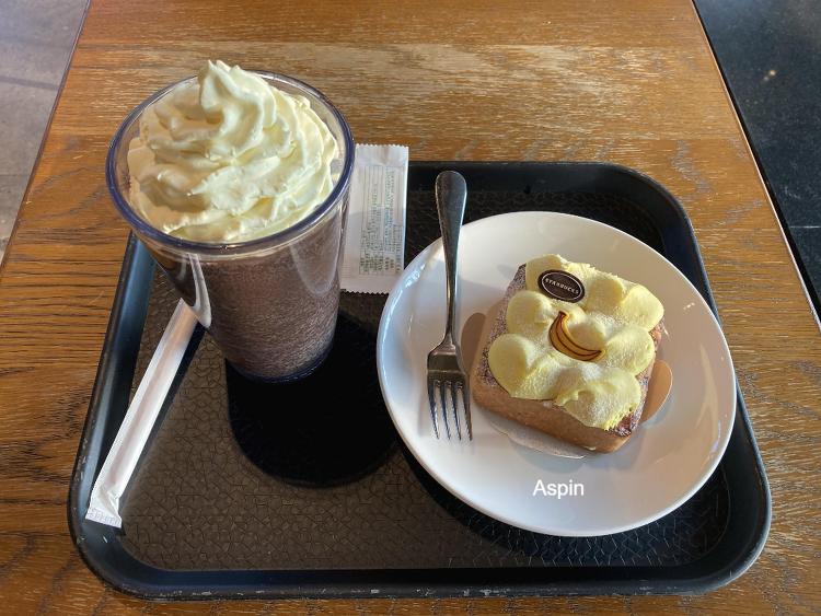 [Starbucks] 바나나 크림 다크 초코 블렌디드..