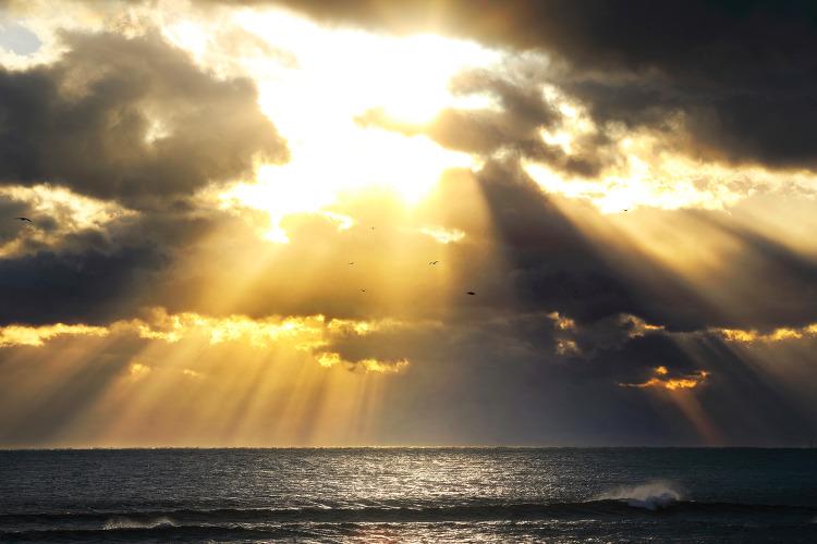 제주, 광치기해변 빛내림...